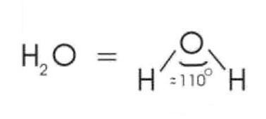 Winkelstruktur des Wassermoleküls